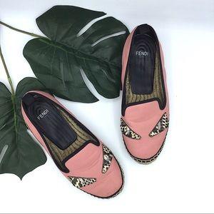 Fendi | Pink Leather Espadrilles Size 35